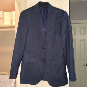 J Ferrar navy blue suit coat